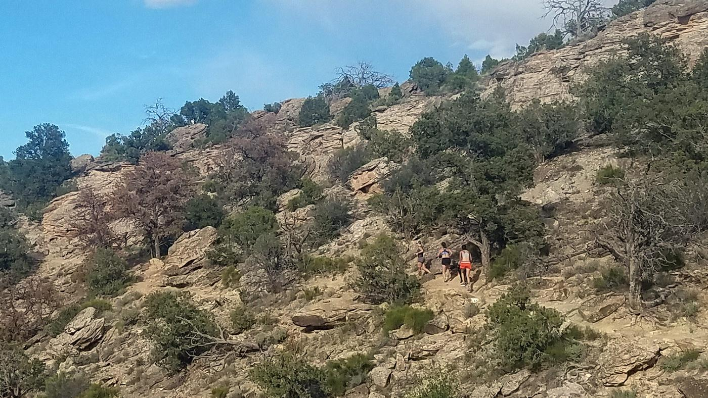 Runners at Widowmaker trail race at Lunch Loop in Grand Junction, Colorado
