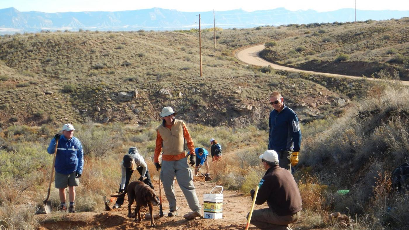 work on pollock bench trail