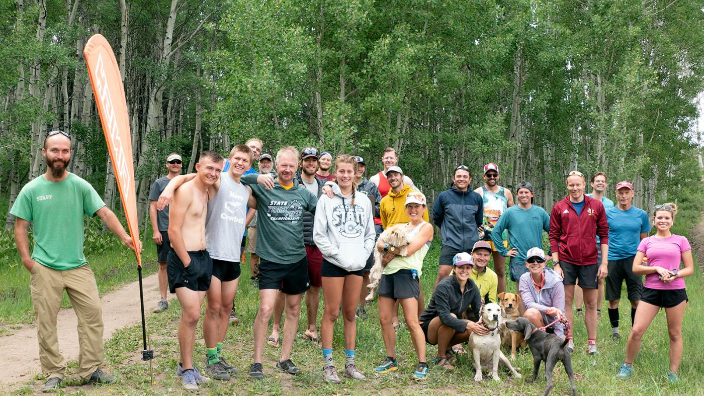 Finishers of the 2020 Turkey Flats Trail Running Race on June 28, 2020